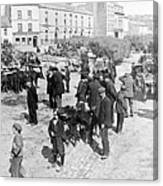 Galway Ireland - The Market At Eyre Square - C 1901 Canvas Print