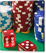 Gambling Dice Canvas Print