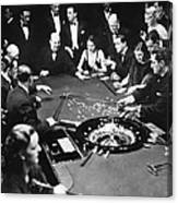 Gambling In Monte Carlo, On The French Canvas Print