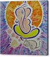 Ganesh Vandan Canvas Print