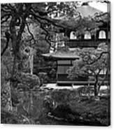 Garden And Temple Canvas Print