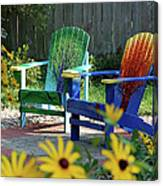 Garden Chairs Canvas Print