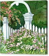 Garden Circle Gate Canvas Print