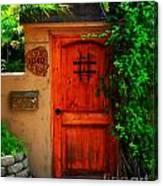 Garden Doorway Canvas Print
