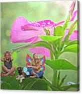 Garden Fairy Friends Canvas Print