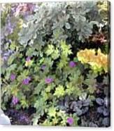 Garden Flower Border Canvas Print