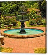 Garden Fountain 03 Canvas Print