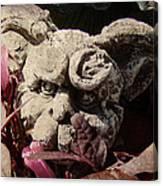 Garden Gargoyle Canvas Print