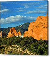 Garden Of The Gods Front Side View Canvas Print