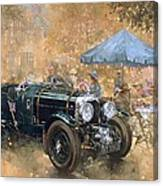 Garden Party With The Bentley Canvas Print