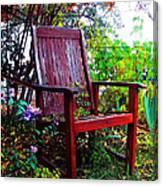 Garden Seating Canvas Print