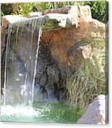 Garden Waterfall Canvas Print