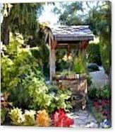 Garden Wishing Well Canvas Print