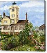 Gardens At Hereford Inlet Lighthouse  Canvas Print