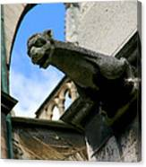 Gargoyle Of Saint Denis Canvas Print