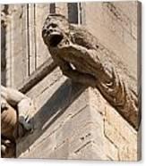 Gargoyles On Ely Cathedral Canvas Print