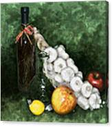 Garlic And The Apples Canvas Print