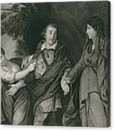 Garrick Between Tragedy And Comedy Canvas Print