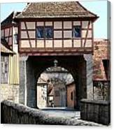 Gate House - Rothenburg Canvas Print