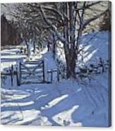 Gate Near Youlgreave Derbyshire Canvas Print