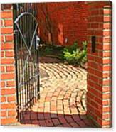 Gateway To A Garden Canvas Print