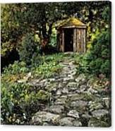 Gazebo And Path, Ballinlough Castle, Co Canvas Print