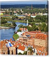 Gdansk Cityscape Canvas Print