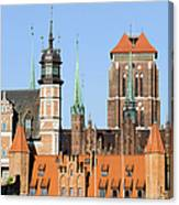 Gdansk Old Town In Poland Canvas Print