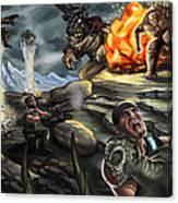 Gears Of War Battle Canvas Print