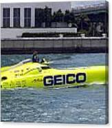Geico Race Boat Canvas Print