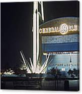 General Electric Pavilion At Night Canvas Print