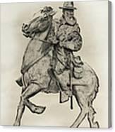 General James Longstreet Statue At Gettysburg  Canvas Print