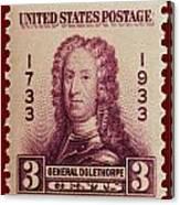 General James Oglethorpe Postage Stamp Canvas Print