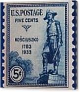 General Kosciuszko Postage Stamp Canvas Print