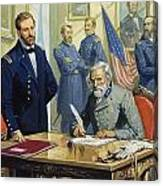 General Ulysses Grant Accepting The Surrender Of General Lee At Appomattox  Canvas Print
