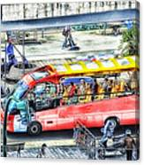 Genoa Sightseeing City Bus Canvas Print