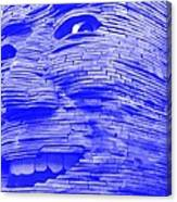 Gentle Giant In Negative Blue Canvas Print