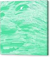 Gentle Giant In Negative Green Canvas Print