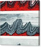 Geologic Crumpling Canvas Print
