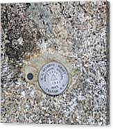 Geological Marker Canvas Print