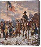 George Washington At Valley Forge Canvas Print