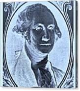 George Washington In Negative Cyan Canvas Print