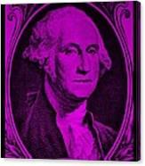 George Washington In Purple Canvas Print