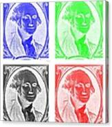 George Washington In Quad Negative Canvas Print