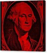 George Washington In Red Canvas Print