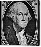 George Washington In White Canvas Print