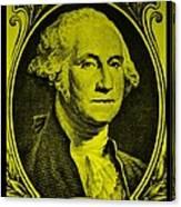 George Washington In Yellow Canvas Print