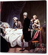 George Washington On His Death Bed Canvas Print