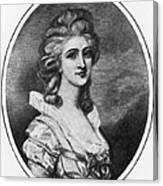 Georgiana Shipley (1752-1806) Canvas Print