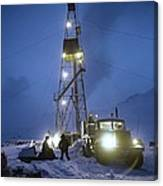 Geothermal Power Station Drilling Canvas Print